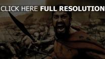 300 gerard butler épée champ de bataille