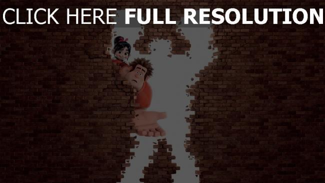 fond d'écran hd les mondes de ralph mur