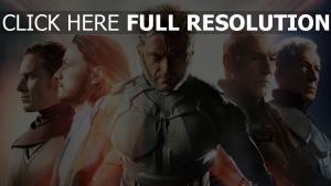 x-men: jours d'un avenir passé personnages principaux vue de face