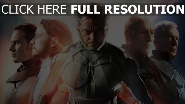 fond d'écran hd x-men: jours d'un avenir passé personnages principaux vue de face