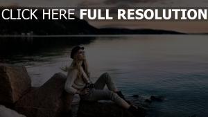 lac léman blond coucher de soleil