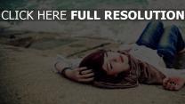 dormir roux foncé style urbain sable