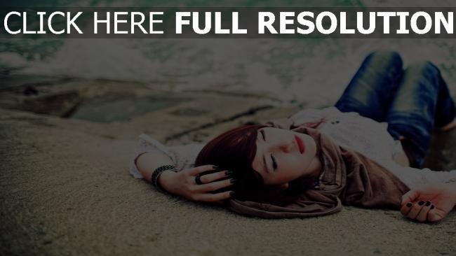 fond d'écran hd dormir roux foncé style urbain sable