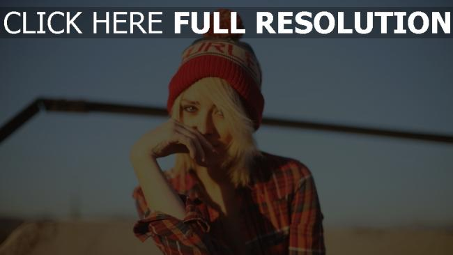 fond d'écran hd blond chapeau chemise chérie