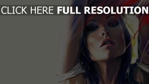 olivia wilde sensuel peinture