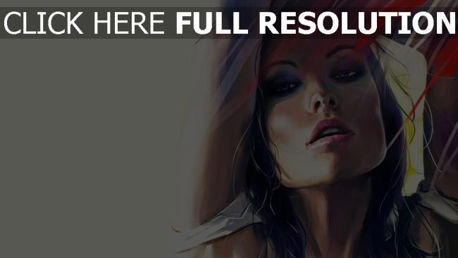 fond d'écran hd olivia wilde sensuel peinture