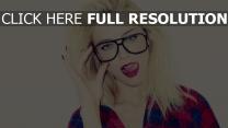 amber heard lunettes style urbain chemise