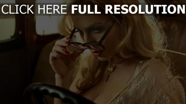 fond d'écran hd ancilla tilia visage lunettes élégant