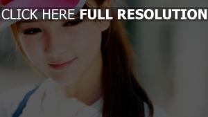 visage casquette chérie