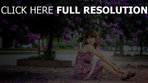 lilas robe rêveur