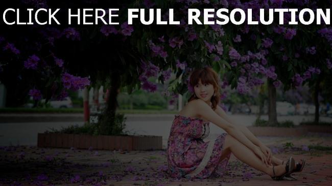 fond d'écran hd lilas robe rêveur