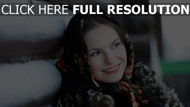 fond d'écran hd russie foulard visage sourire