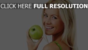 blonde pomme visage bonheur