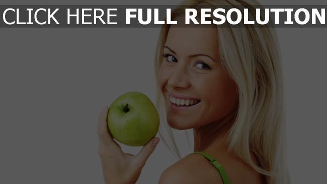 fond d'écran hd blonde pomme visage bonheur