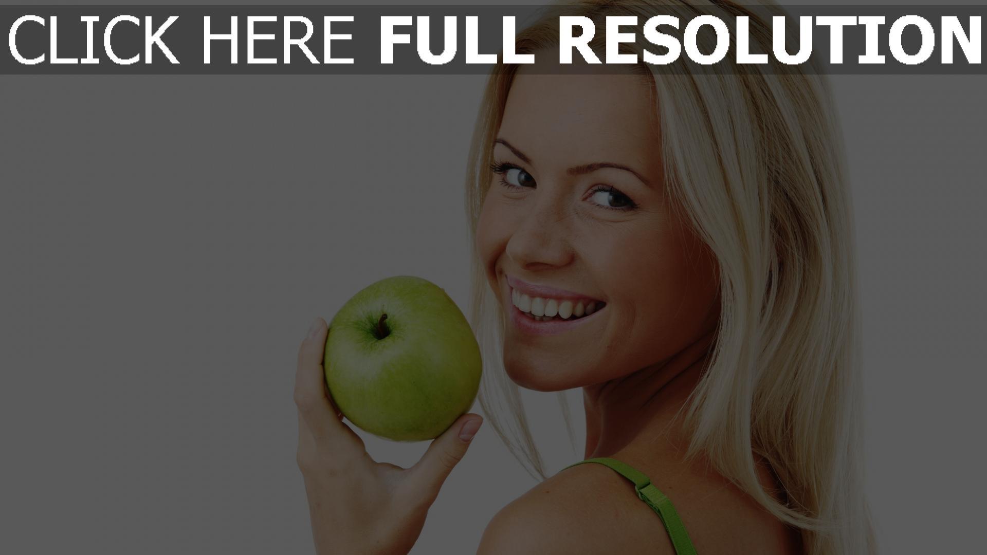 fond d'écran 1920x1080 blonde pomme visage bonheur