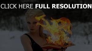 livre feu blond hiver