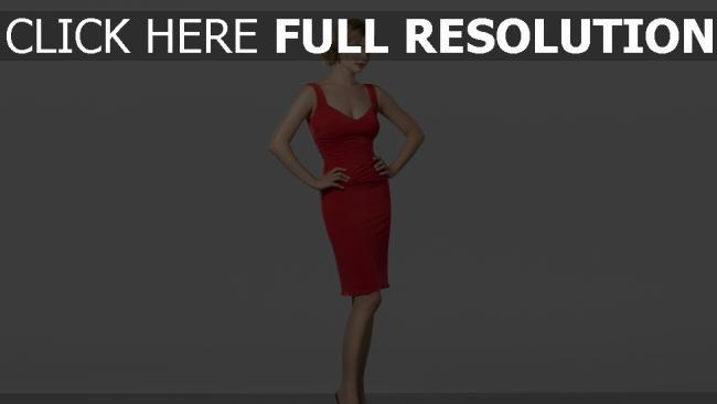 fond d'écran hd blond robe de soirée rouge