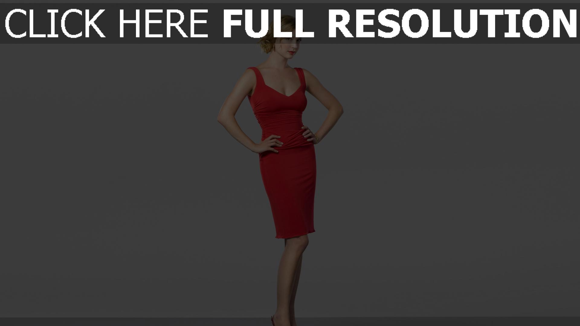 fond d'écran 1920x1080 blond robe de soirée rouge