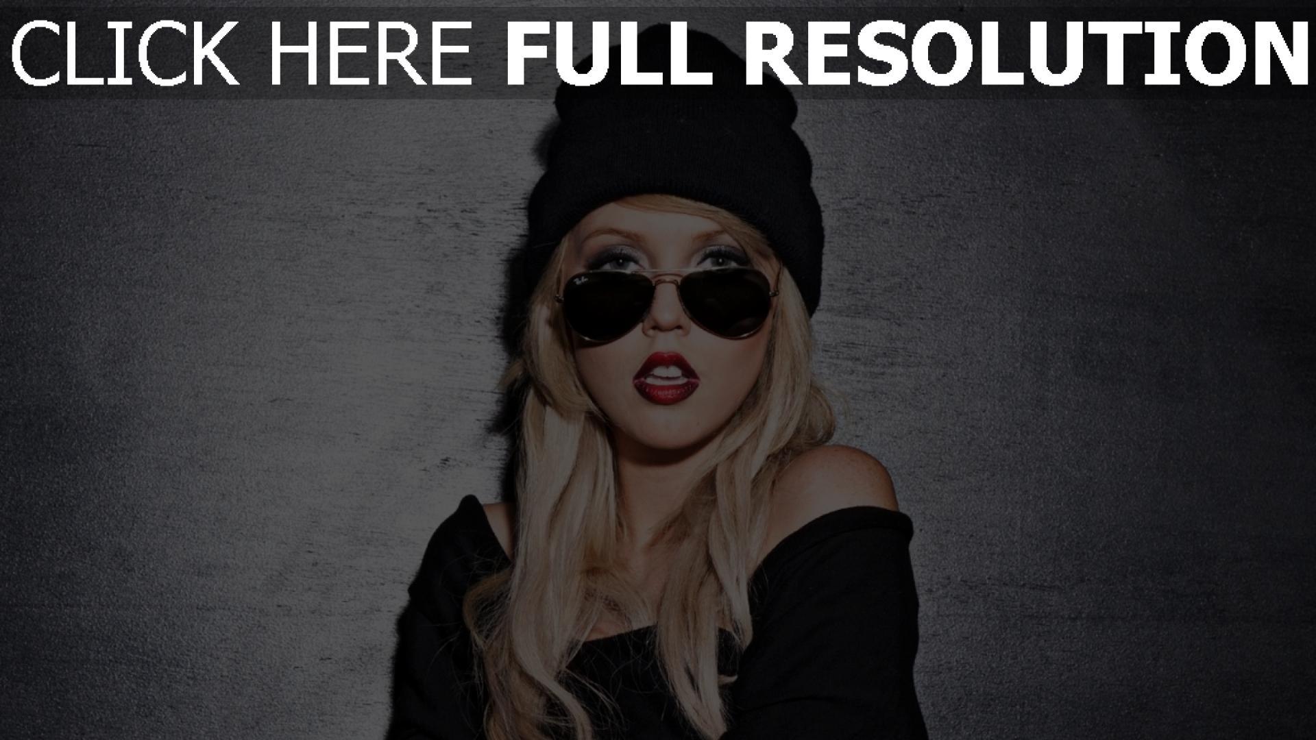 fond d'écran 1920x1080 blond lunettes de soleil style urbain chapeau