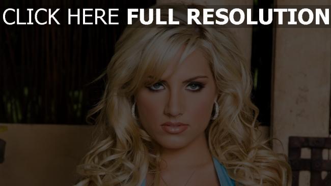fond d'écran hd blond maquillage vue de face bouclé cheveux