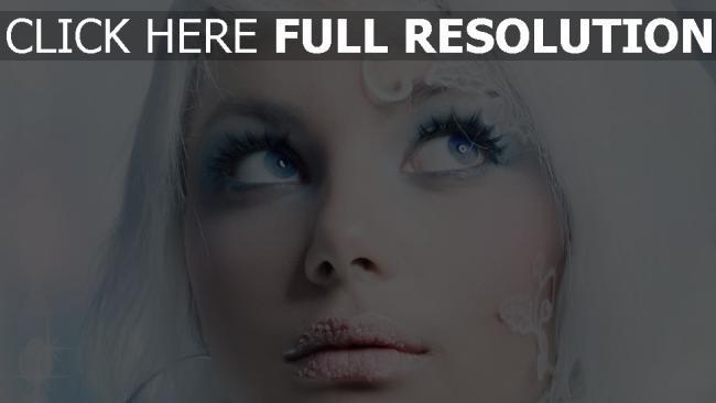 fond d'écran hd blond visage regard blanc