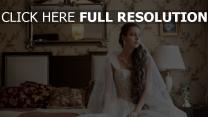 mariée robe rêveur chambre