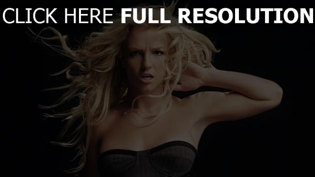 fond d'écran hd britney spears rage blond chanteuse