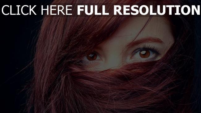 fond d'écran hd roux foncé yeux bruns gros plan
