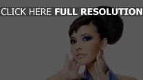 mascara coiffure brunette visage