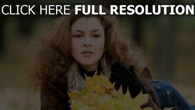 fond d'écran hd bouclé cheveux tendre automne