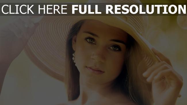 fond d'écran hd grand chapeau visage belle naturel