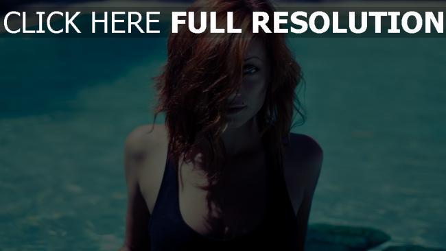 fond d'écran hd roux foncé cheveux courts visage piscine