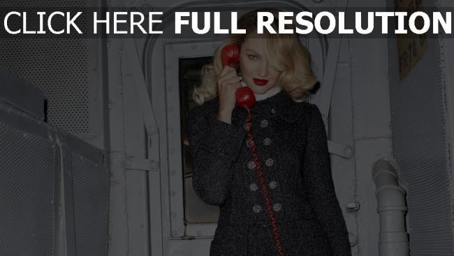 fond d'écran hd candice swanepoel téléphone manteau rouge à lèvres