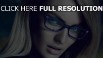 candice swanepoel lunettes yeux bleus mannequin