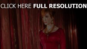 christina hendricks roux collier robe de soirée