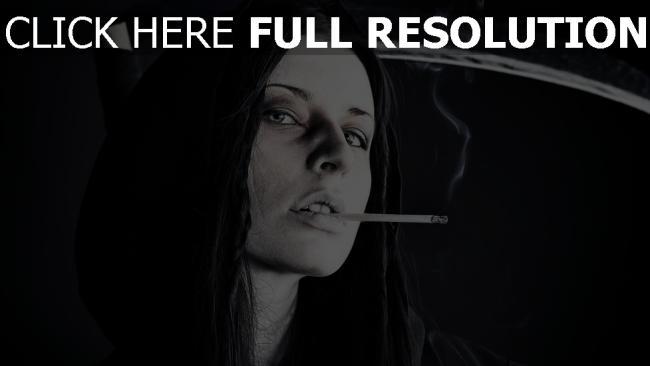 fond d'écran hd faux capuchon cigarette noir et blanc