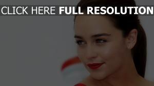 emilia clarke rouge à lèvres actrice