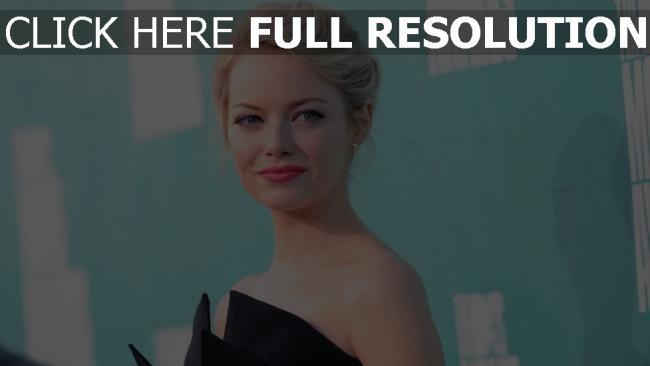 fond d'écran hd emma stone blond rouge à lèvres coiffure