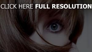 yeux bleus cheveux courts,