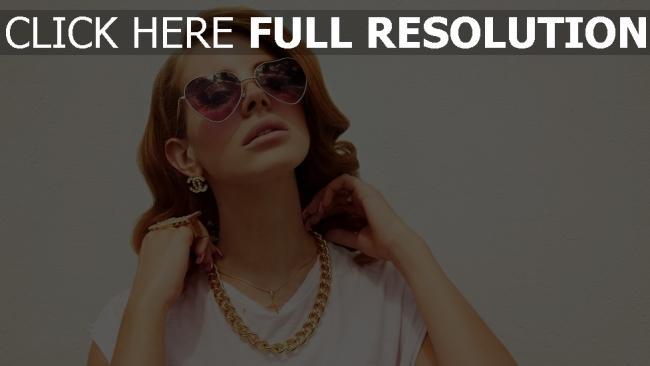 fond d'écran hd lana del rey sensuel lunettes de soleil