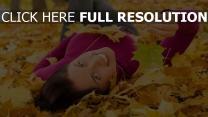 automne bonheur feuilles sourire