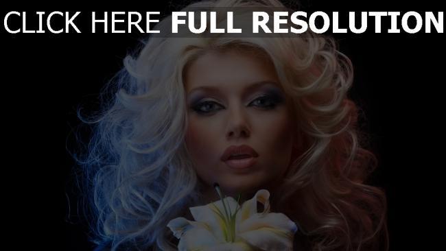 fond d'écran hd bouclé cheveux sensuel visage maquillage