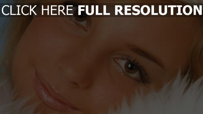 fond d'écran hd visage yeux bruns gros plan mascara