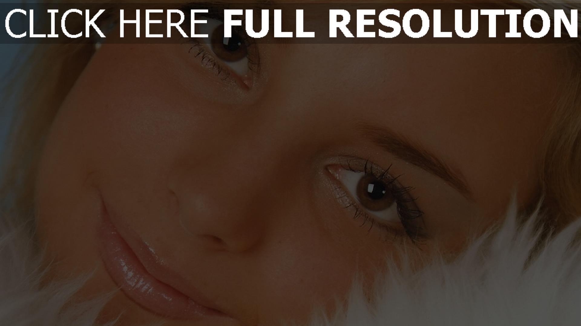 fond d'écran 1920x1080 visage yeux bruns gros plan mascara