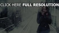 froid stockholm rue cheveux bruns