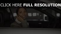 femme d'affaires mulatta visage sourire