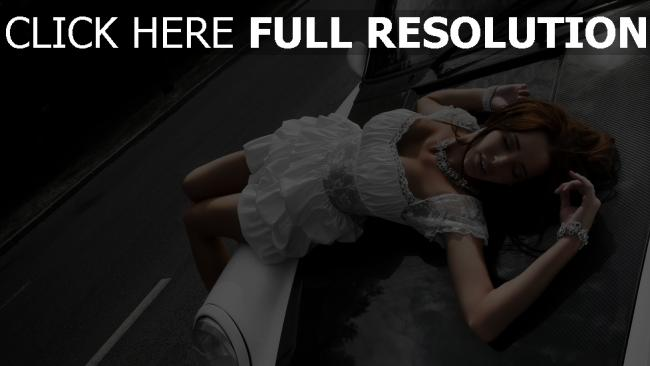 fond d'écran hd robe blanc joaillerie sensuel