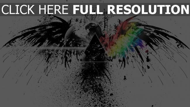 fond d'écran hd pink floyd aigle multicolore éclaboussure