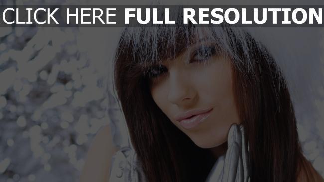 fond d'écran hd cheveux bruns élégant visage hiver