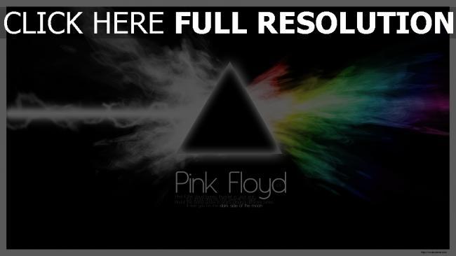 fond d'écran hd pink floyd triangle arc en ciel fumée